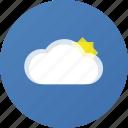 clouds, sun, weather