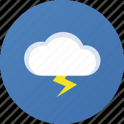 thunder, weather icon