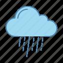 cloudburst, downpour, drizzle, pour, rain, rainy, weather icon