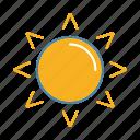 hot day, summer, sun, sunlight, sunny, sunshine, weather icon