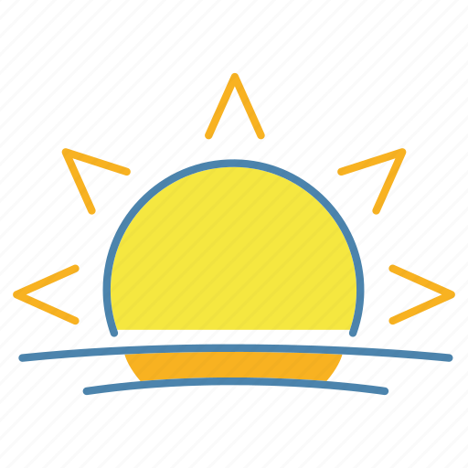 summer, sun, sunlight, sunny, sunrise, sunset, sunshine icon