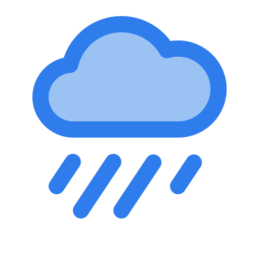 cloud, drop, forecast, rain, rainy, water, weather icon