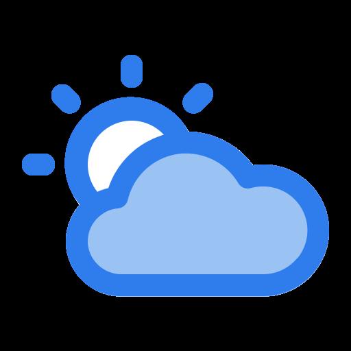cloud, day, shine, summer, sun, sunny, weather icon