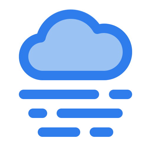 cloud, fog, forecast, ocean, warm, weather, wind icon