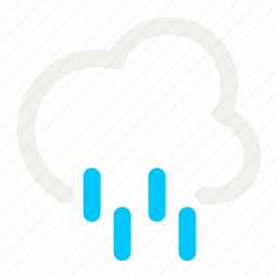 cloud, cloudy, forecast, heavy, rain, rainy, weather icon