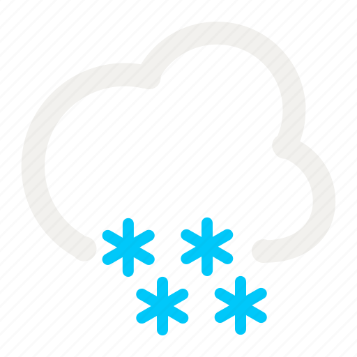 cloud, cloudy, forecast, heavy, snow, snowy, weather icon