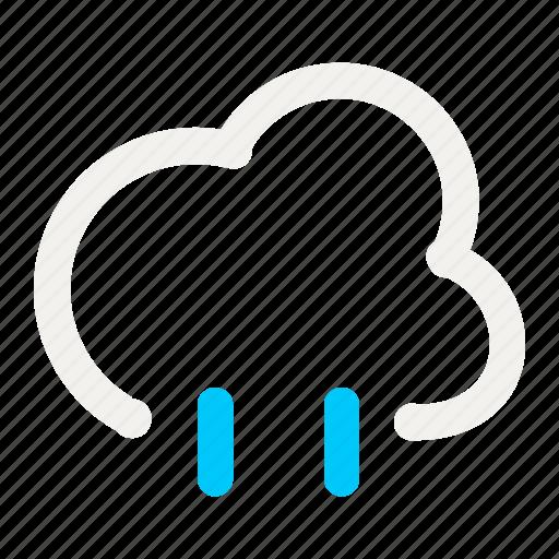 cloud, cloudy, forecast, light rain, rain, rainy, weather icon