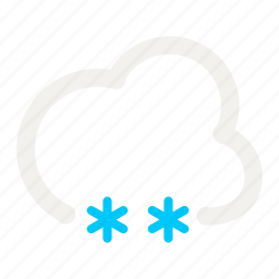 cloud, cloudy, forecast, light, light snow, snow, weather icon