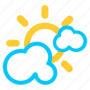 cloud, cloudy, forecast, heavy cloud, sunny, weather