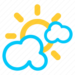 cloud, cloudy, forecast, heavy cloud, sunny, weather icon