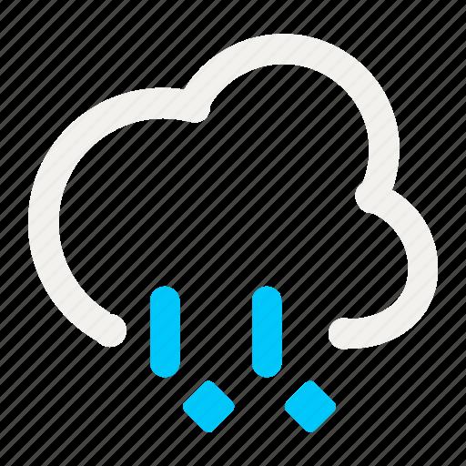 forecast, icy, rain, rainy, weather icon