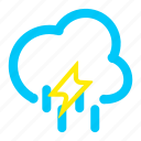 bodeline, storms, t, weather icon