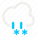 cloud, cloudy, mix, rain, rainy, snow, weather icon