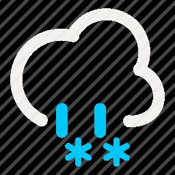 cloud, cloudy, mix, rain, rainy, snow, weather icon