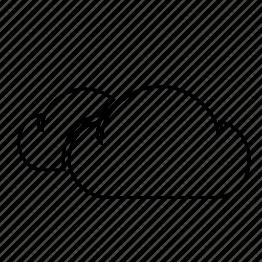 cloud, cloudy, rain, rains, rainy, weather, weatherproof icon