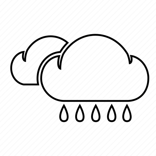 cloud, cloudy, rain, rainy, weather, weatherproof icon