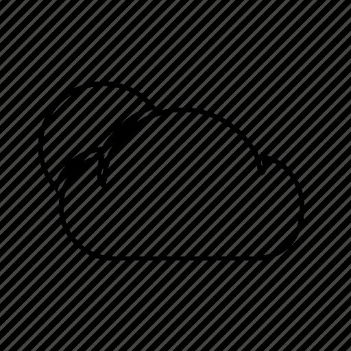 cloud, cloudy, rain, rainy, weather, weatherproof icon