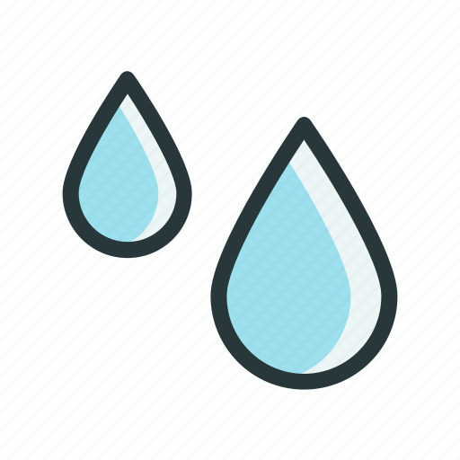 climate, day, drops, water, weather icon