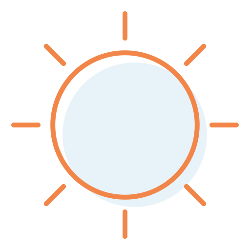 daylight, sunny, sunshine icon