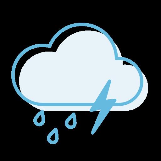 ranny, thunderstorm icon