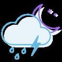 ranny, thunderstorm, night