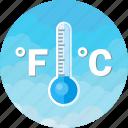 celsius, fahrenheit, forecast, storm, temperature, thermometer, weather