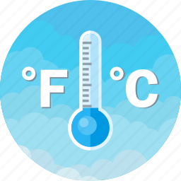 celsius, fahrenheit, forecast, storm, temperature, thermometer, weather icon