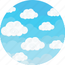 cloudy, blue, sky, weather, clouds, forecast