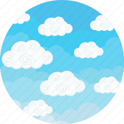 blue, clouds, cloudy, forecast, sky, weather icon