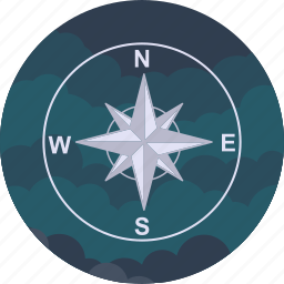 arrows, compass, direction, gps, location, navigation, pointer icon