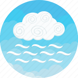 cloudy, day, fog, forecast, mist, sky, weather icon