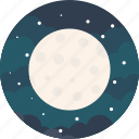 forecast, full, light, lightning, moon, night, stars icon