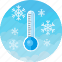 cold, forecast, low, snow, temperature, thermometer, winter icon