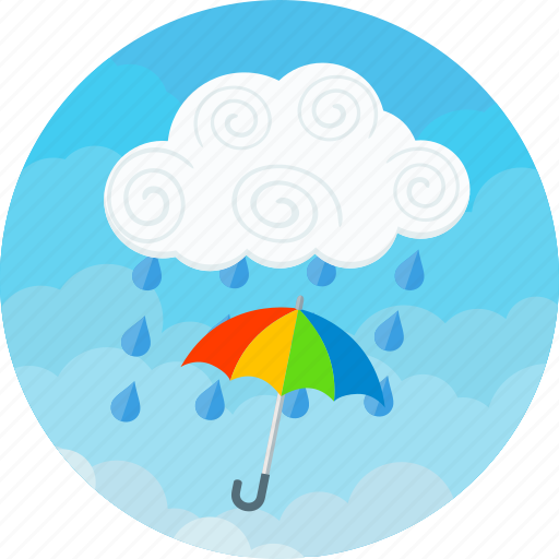 Rain, clouds, forecast, raining, storm, umbrella, weather icon - Download on Iconfinder