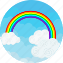 rainbow, clouds, colorful, ecology, happyness, nature, sky