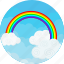 clouds, colorful, ecology, happyness, nature, rainbow, sky icon