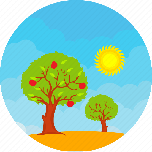 ecology, environment, nature, season, spring, summer, tree icon