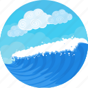 marine, nautical, ocean, sea, storm, water, waves icon