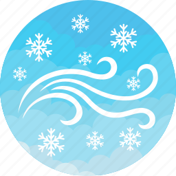 cold, forecast, snow, storm, weather, wind, winter icon
