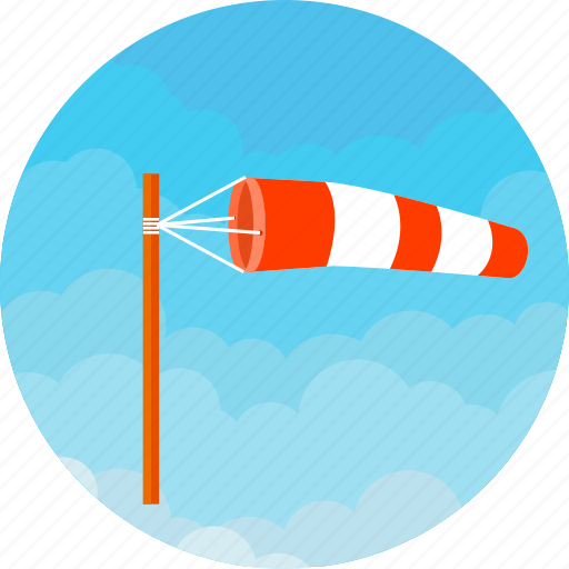 cloud, forecast, storm, weather, wind, windsock, windy icon