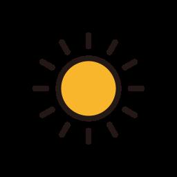 sun, sunny, temperature, weather icon