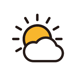 clouds, sun, sunny, weather icon