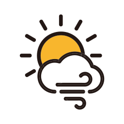 clouds, storm, sunny, weather icon