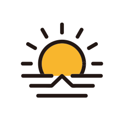 morning, sun, sunrise, weather icon