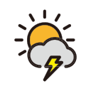 clouds, rain, storm, thunder, weather icon