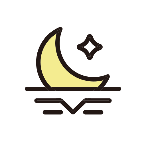 moon, moonset, morning, weather icon