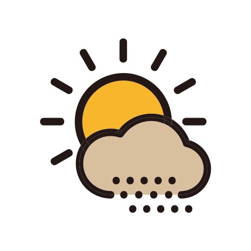 day, sand, sandstorm, sun, weather icon