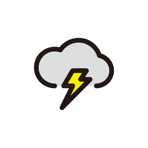 clouds, night, storm, weather icon