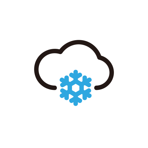 clouds, snow, weather, winter icon