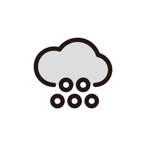 clouds, hail, hailstone, snow, weather icon